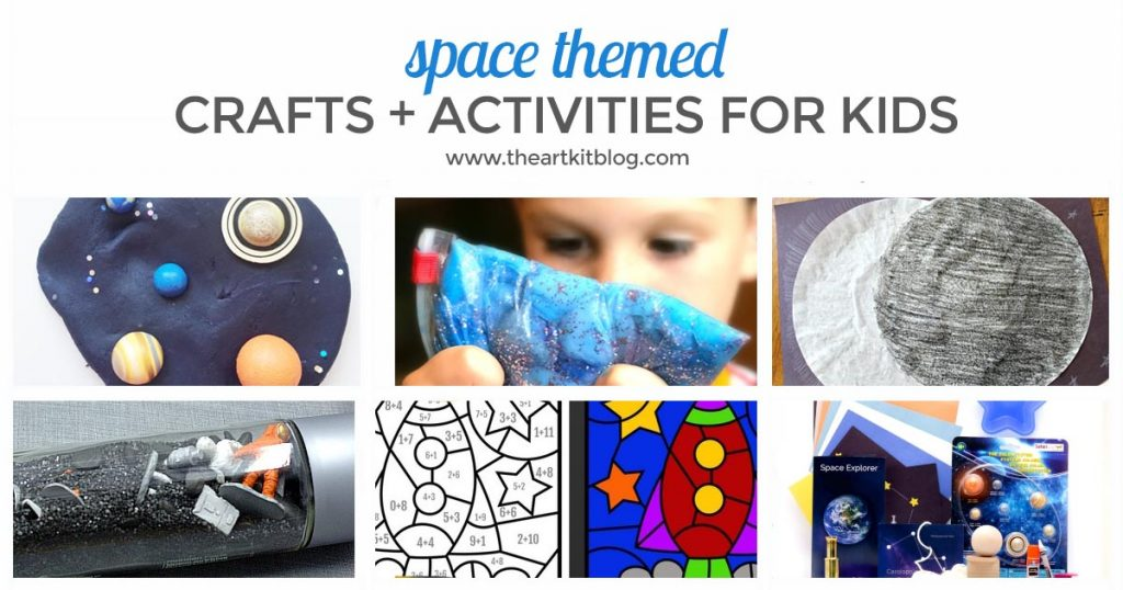 Space Crafts and Activities for Kids from the The Art Kit Blog