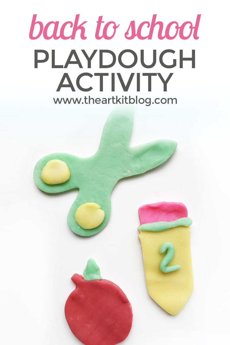 Back to School Playdough Invitation to Play