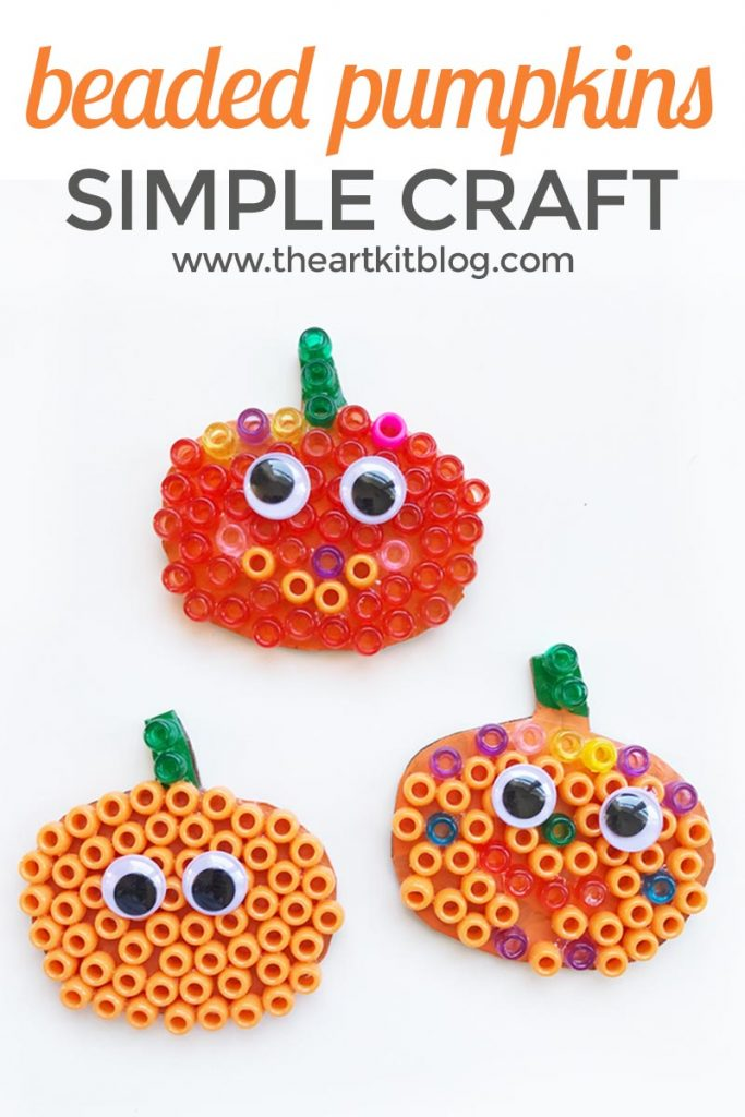 Easy fall craft for kids - Make your own pumpkin or jack o lantern from basic craft supplies you already have at home from @theartkit www.theartkitblog.com