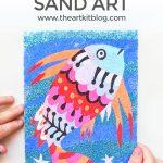 Sand Art Kit for Kids: Djeco Rainbow Fish