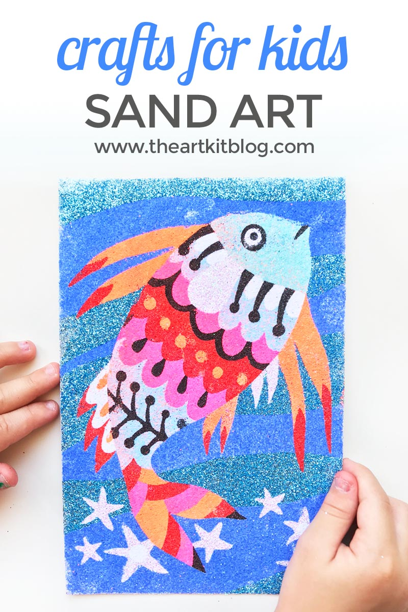 Djeco art kit sand rainbow fish craft for kids all in one the art kit blog
