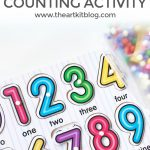 Simple Counting Activity for Kids – Repurposing Items You Already Own