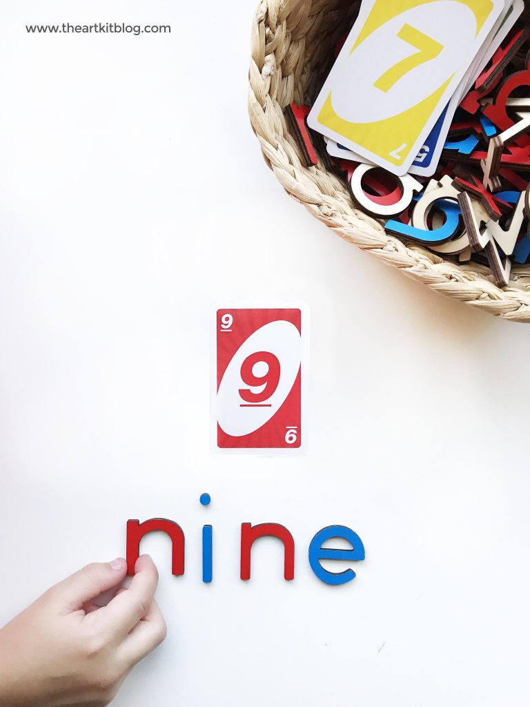 Uno cards number activity for kids homeschool the art kit blog
