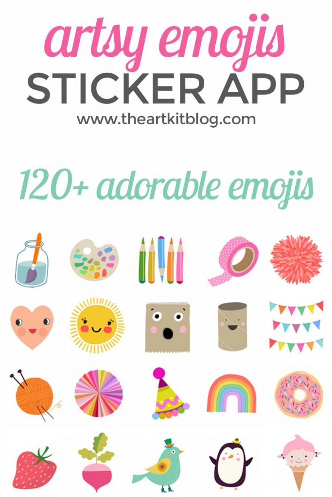 Artsy emojis sticker app iphone the art kit art bar blog