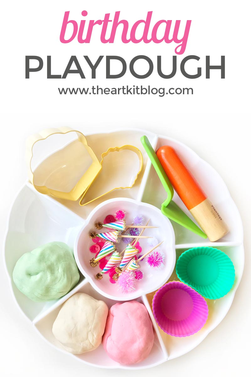 Birthday Playdough {Recipe + Play Ideas}