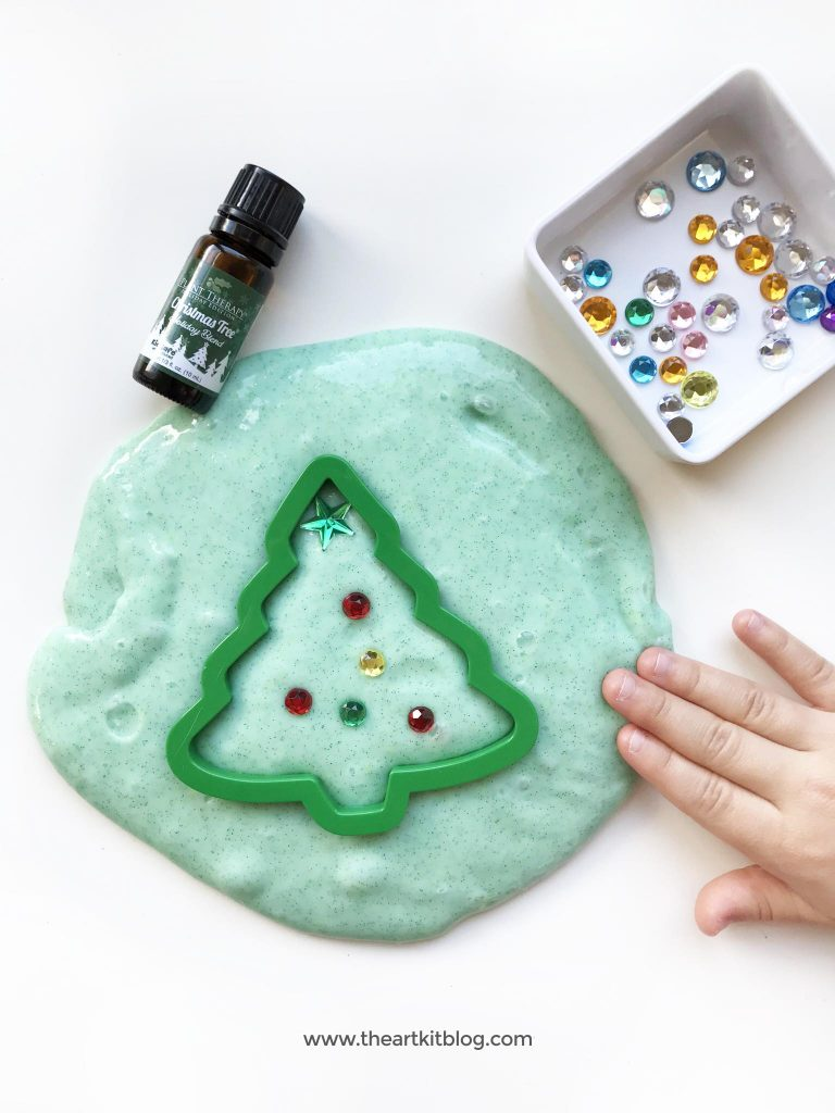 Snow slime recipe how to make foolproof winter scented slime with essential oils by the art kit