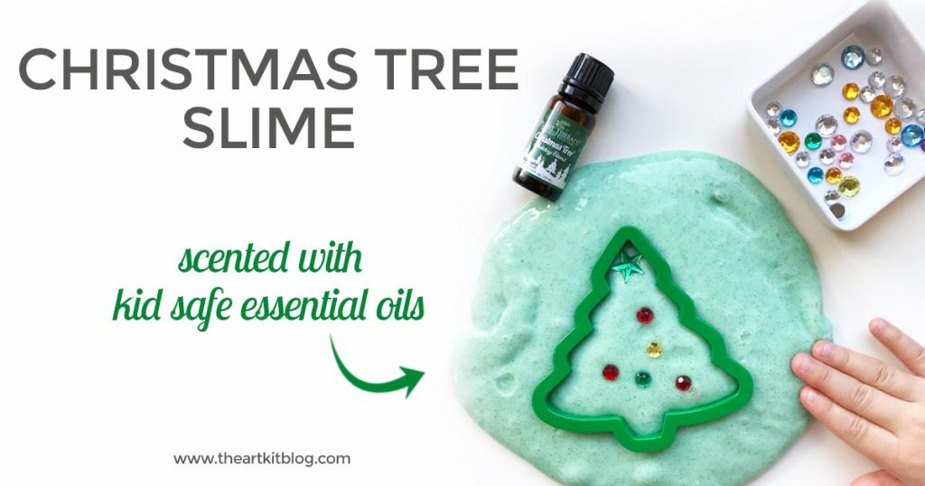 Christmas tree slime recipe how to make foolproof winter scented slime with essential oils by the art kit