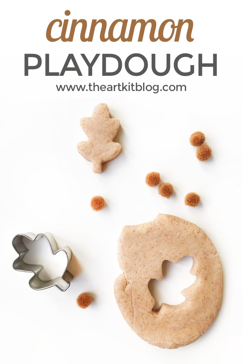 Cinnamon playdough recipe homemade natural scented play dough from the art kit blog