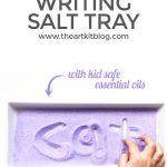 Calming Lavender Salt Tray Writing Activity
