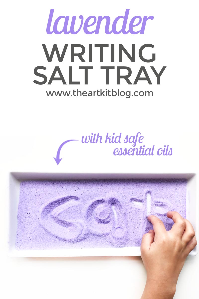 Calming Lavender Salt Tray Writing Activity