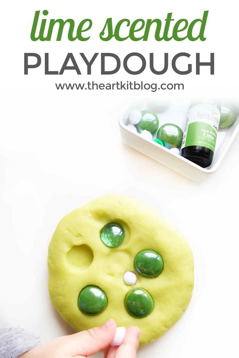 Lime Playdough {Scented with Kid-Safe Essential Oils}