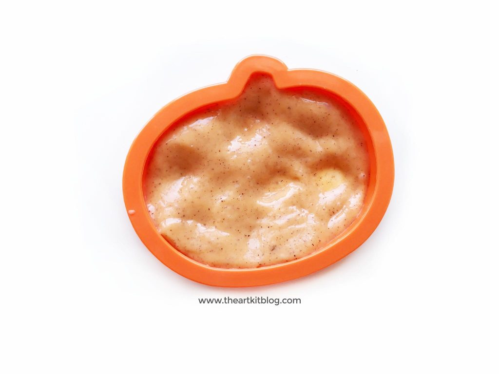 Pumpkin pie slime scented with natural pumpkin pie spice by the art kit blog