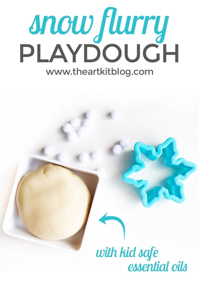 Snow Playdough Recipe {With Kid Safe Essential Oils}