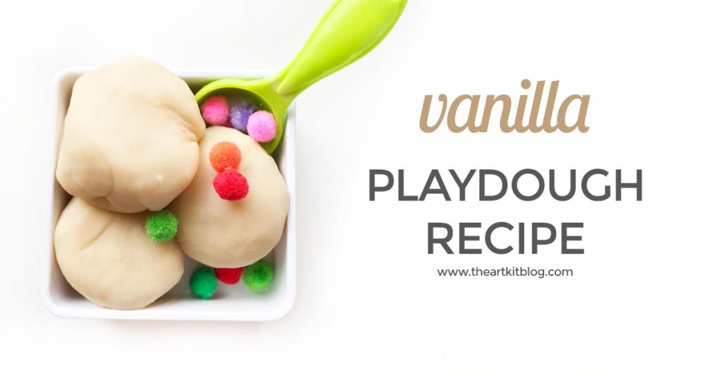 Taste safe vanilla playdough recipe homemade play dough by the art kit blog