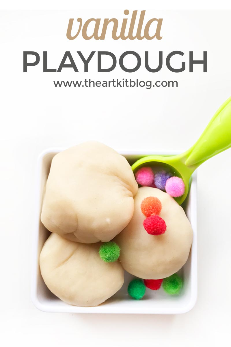 Vanilla Playdough Recipe {Smells Heavenly!}