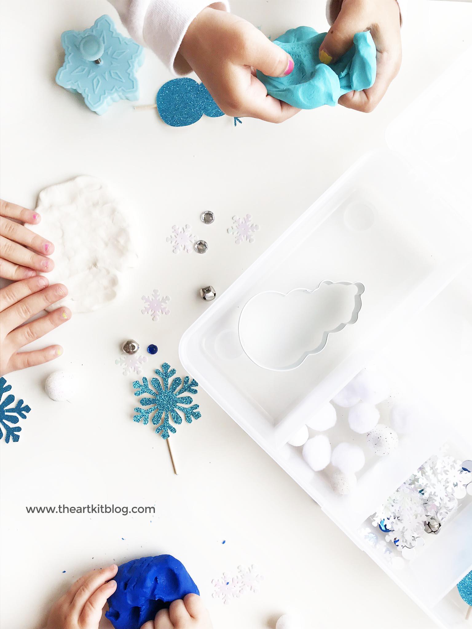 winter-playdough-kit-play-dough-kit-the-art-kit-2 - The Art Kit