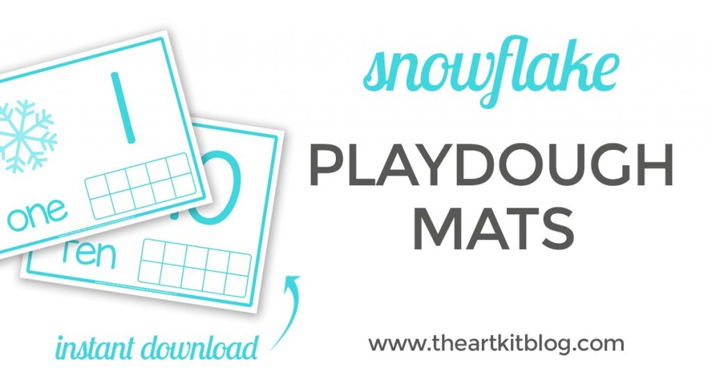 snow playdough mats printable