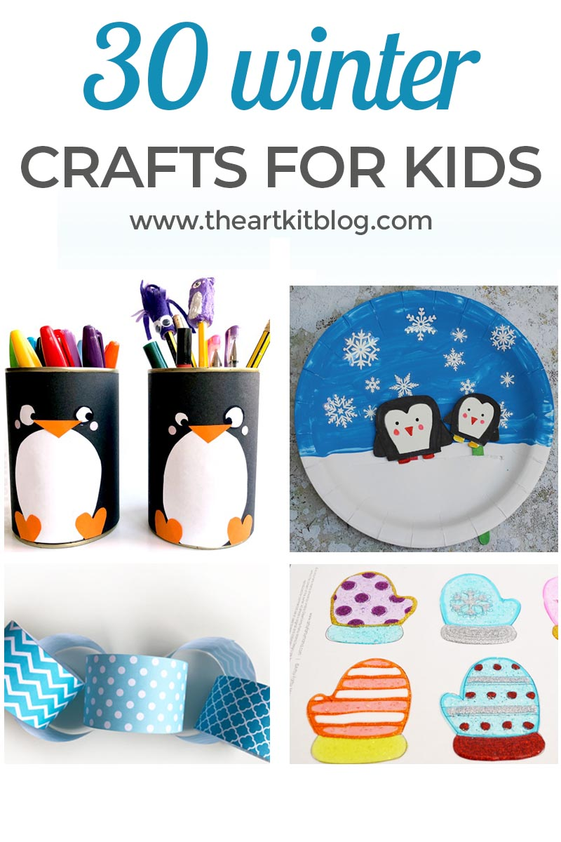 30 Winter Crafts For Kids The Art Kit