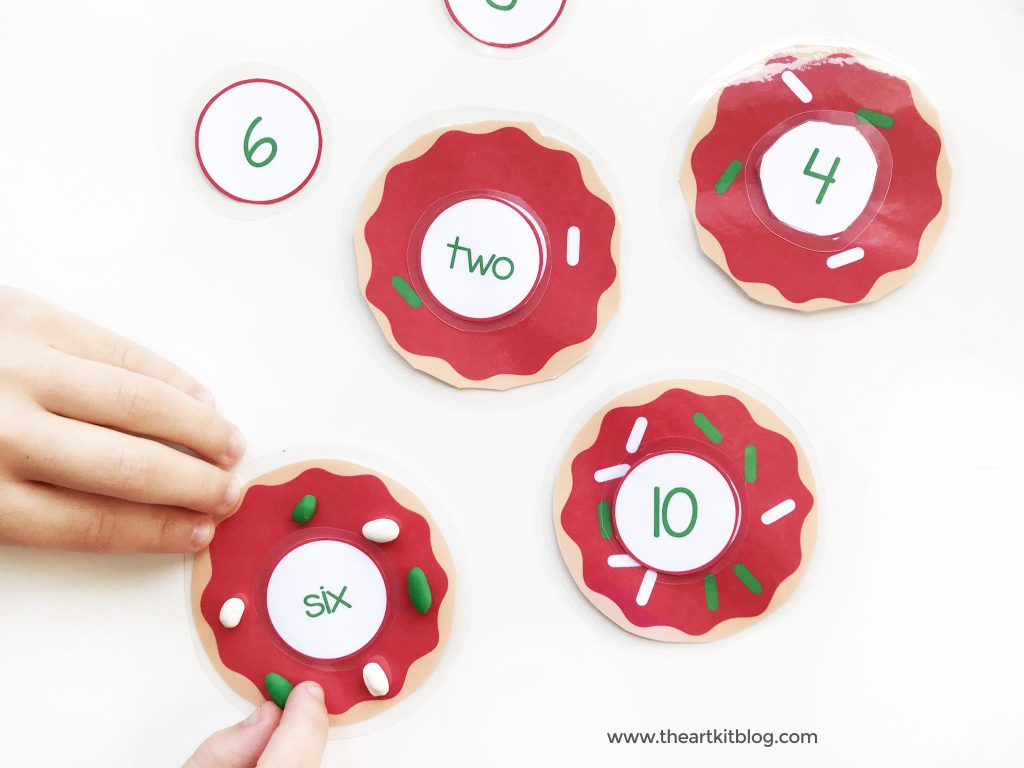 Christmas donut counting cards the art kit