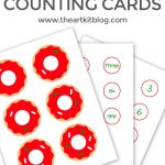 Christmas Donut Counting Cards {Free Printables}