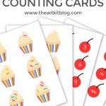 Cupcake Counting Cards {Instant Download Printable}