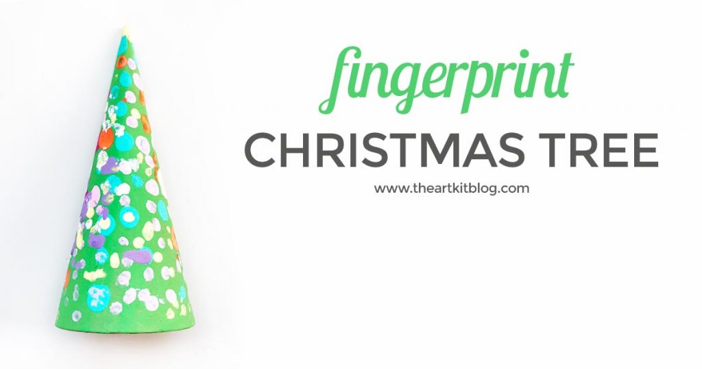 fingerprint christmas tree craft for kids the art kit