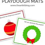 Christmas Playdough Mats {Free Printables}