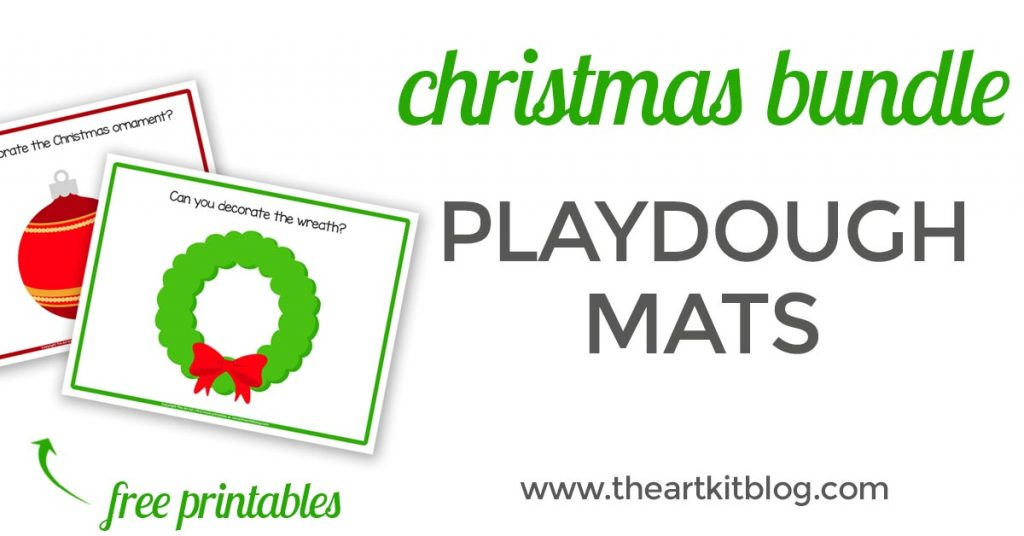 picture relating to Printable Playdough Mats known as Xmas Playdough Mats Totally free Printables - The Artwork Package