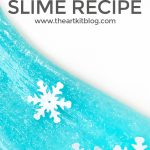 Homemade Snowflake Slime Recipe {Icy Cool!}