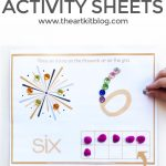 New Year's FREE Printable Activity Sheets {Number Practice}