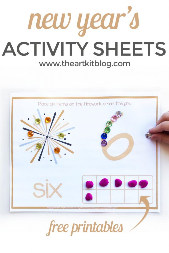 New Year's Printable Activity Sheets {Number Practice}