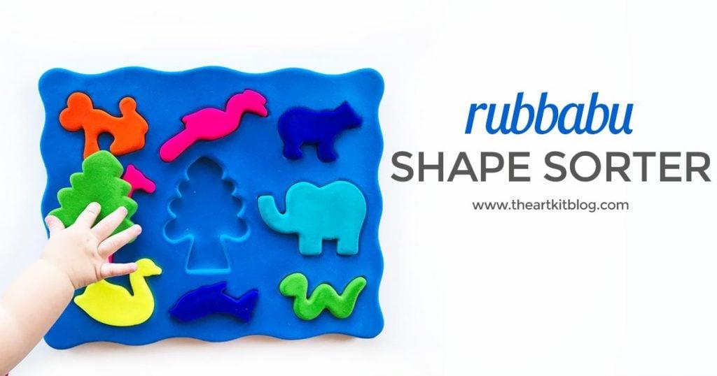 Rubbabu 3D Animal Shape Sorter review the art kit 2