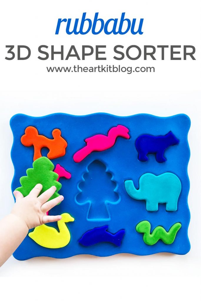 Rubbabu 3D Animal Shape Sorter review the art kit 2