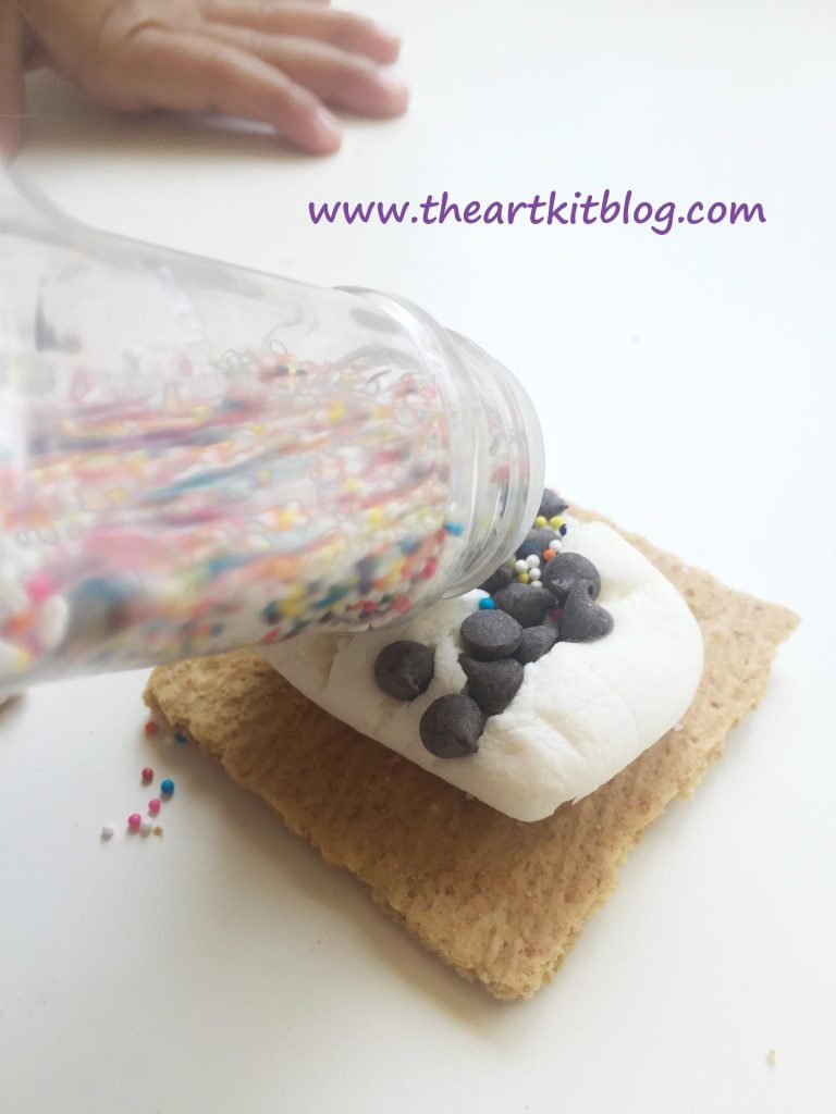 Sprinkle S'mores - Dairy Free and Heat Free. Read More on The Art Kit Blog or Pin for Later