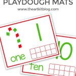 Candy Cane Playdough Mats for Number Practice {Free Printables}