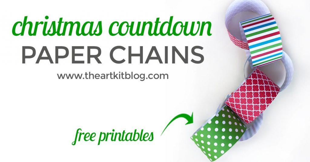 christmas countdown paper chain free printable