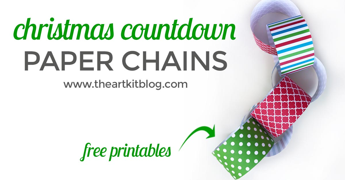 christmas countdown chain free printable FACEBOOK