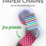 Christmas Countdown Paper Chains {Free Printables}