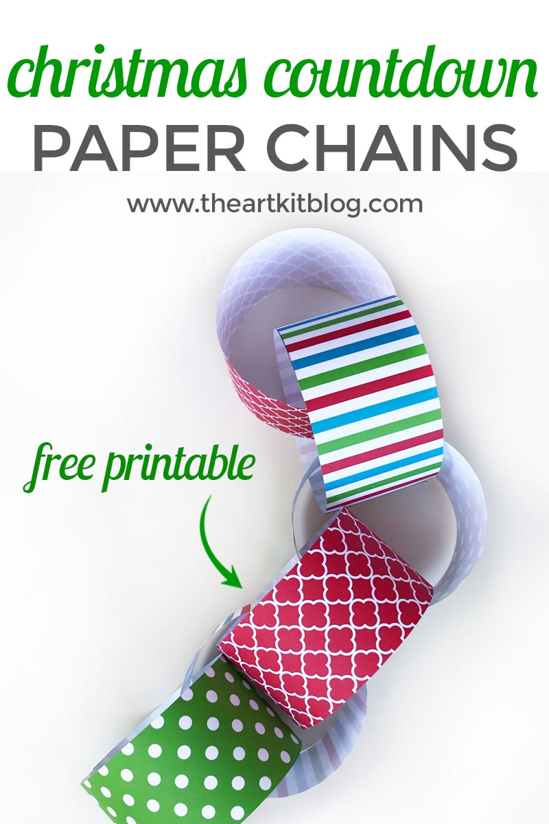 christmas countdown paper chain free printable