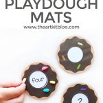 Donut Playdough Mats for Number Practice {Instant Download Printable}