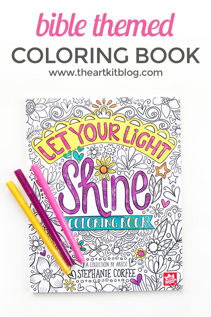 Let Your Light Shine {Bible Themed Coloring Book with Gorgeous Illustrations}