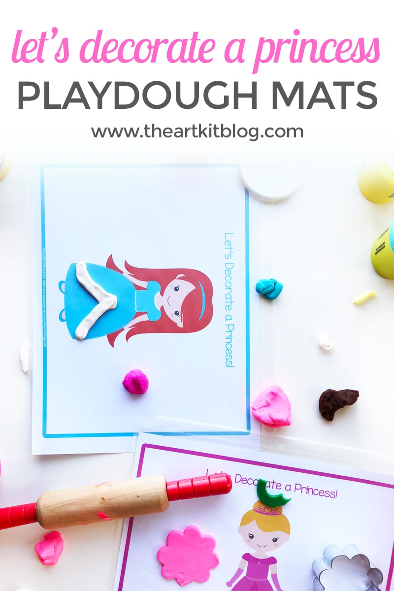 let's decorate a princess playdough mats the art kit blog