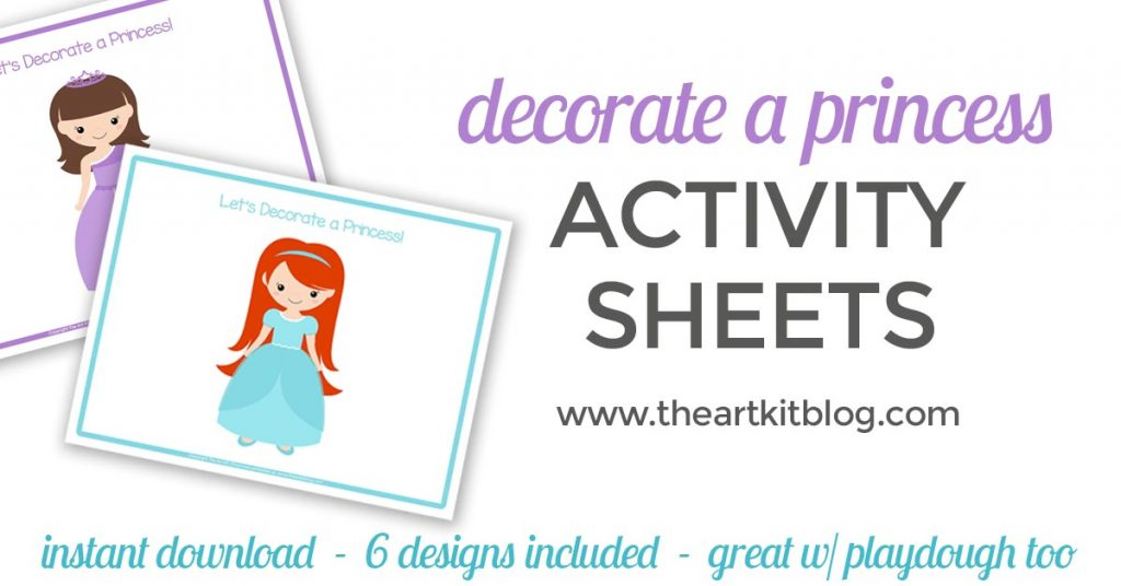 let's decorate a princess playdough mats the art kit blog