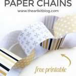 New Year Countdown Paper Chains {Free Printable}