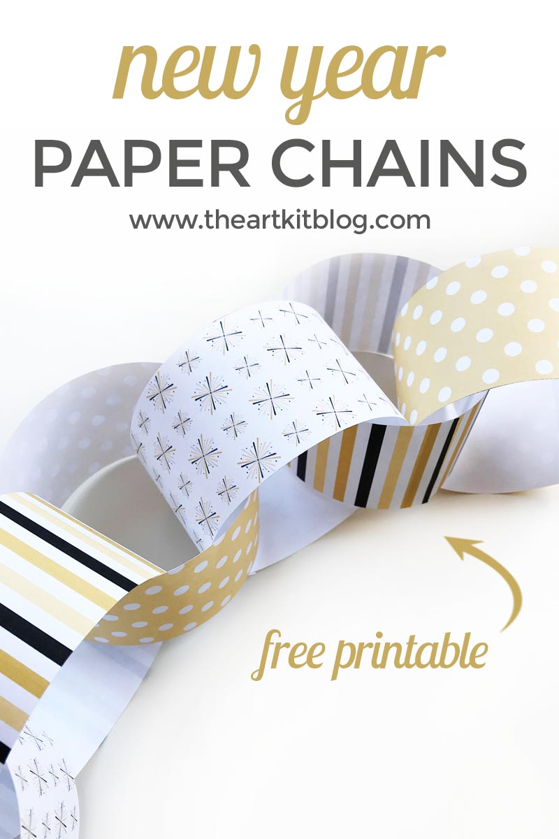 new years countdown paper chain free printable