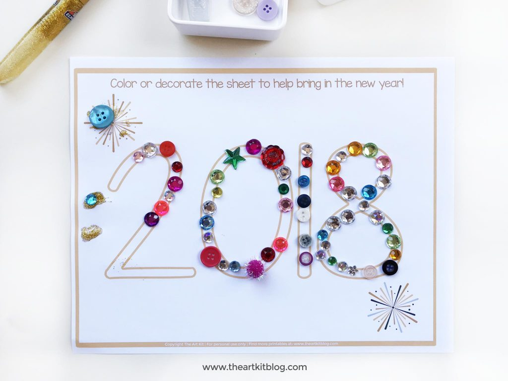 new years craft free printable
