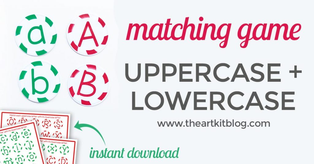 Peppermint Candies Matching Game - Uppercase and Lowercase