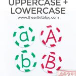 Peppermint Candies Matching Game Uppercase and Lowercase Letters {Printable}