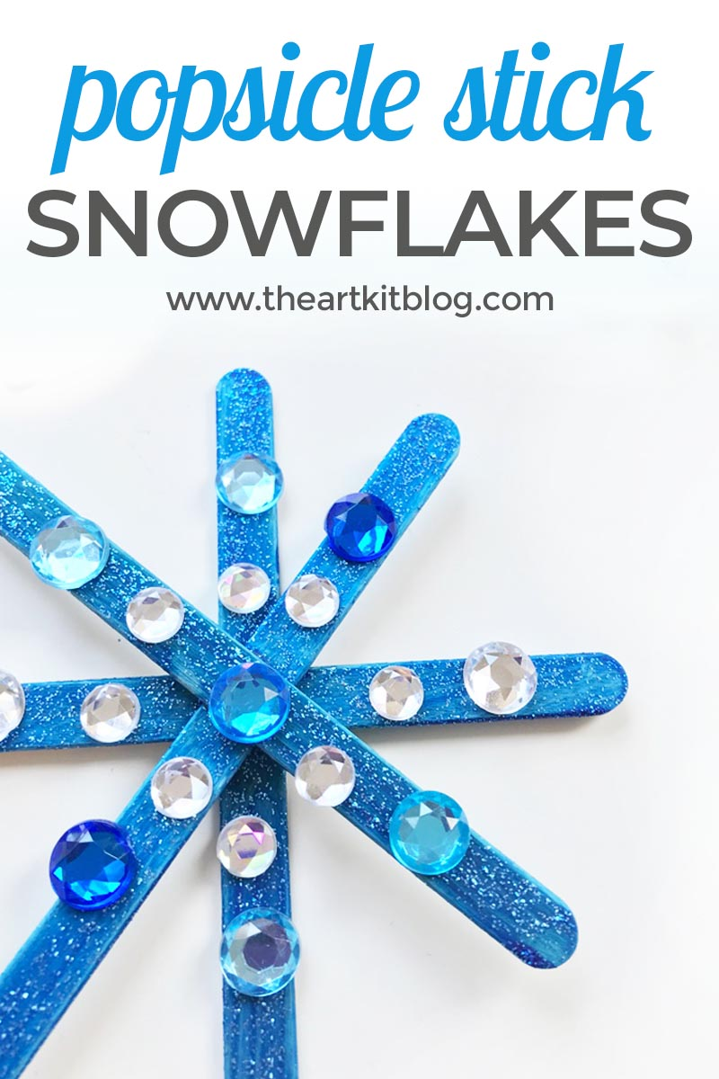 Popsicle Stick Snowflake Winter Craft for Kids