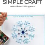 Simple Winter Craft for Kids {Free Printable}